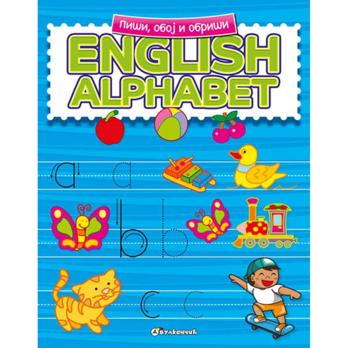 PIŠI, OBOJ I OBRIŠI: ENGLISH ALPHABET
